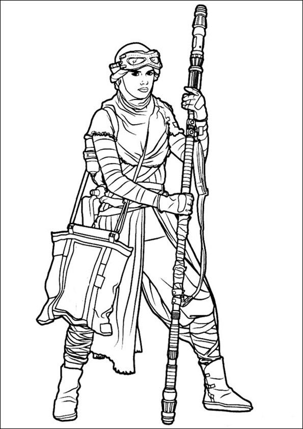 ausmalbilder  Prinzessin Leia -5